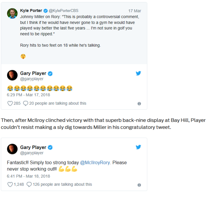 Player tweets