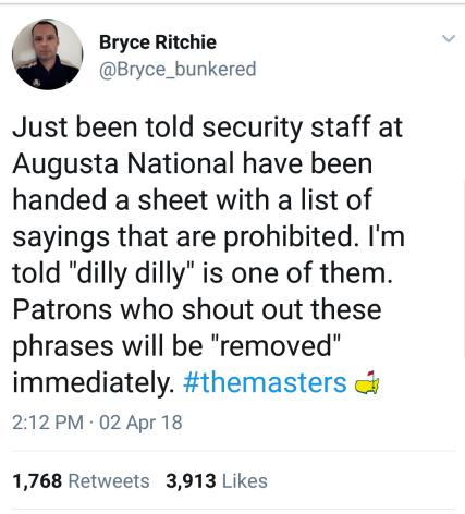 Masters tweet