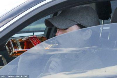 drinking in parking lot