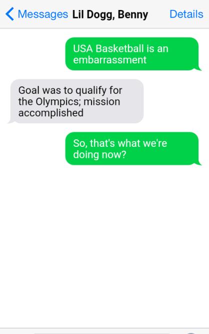 Olympics USA BBALL