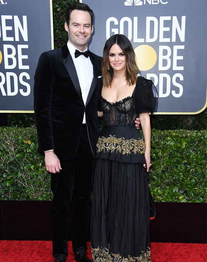 bill-hader-rachel-bilson-golden-globes-red-carpet-debut1