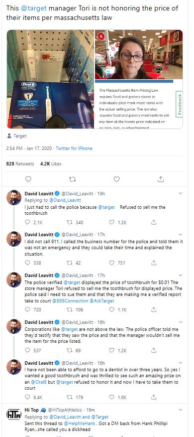 leavitt tweets